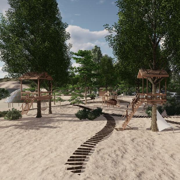 Готель на деревах та лекторій-сфера: що будують на Трухановому острові