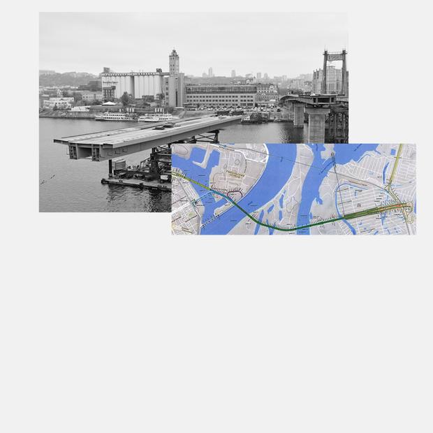 Де починається й закінчується Подільський міст. Дивіться офіційну схему