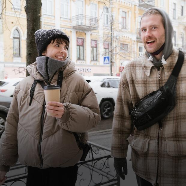Локдаун у місті: стритстайл перших сніжних днів року  — Зовнішній вигляд на The Village Україна
