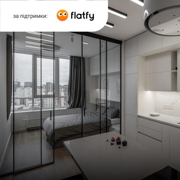 Квартира на 22-му поверсі з відкритою спальнею та краєвидом на місто — Квартира тижня на The Village Україна