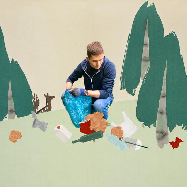 Я прибрав понад 2,5 тонни сміття з лісу на карантині — Еко на The Village Україна