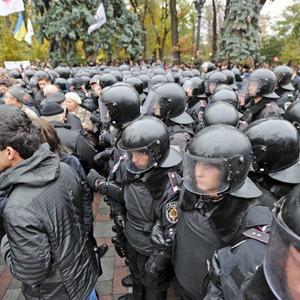 Copwatch: Действия милиции на акции «Вперёд!» возле Верховной рады — Люди в місті на The Village Україна