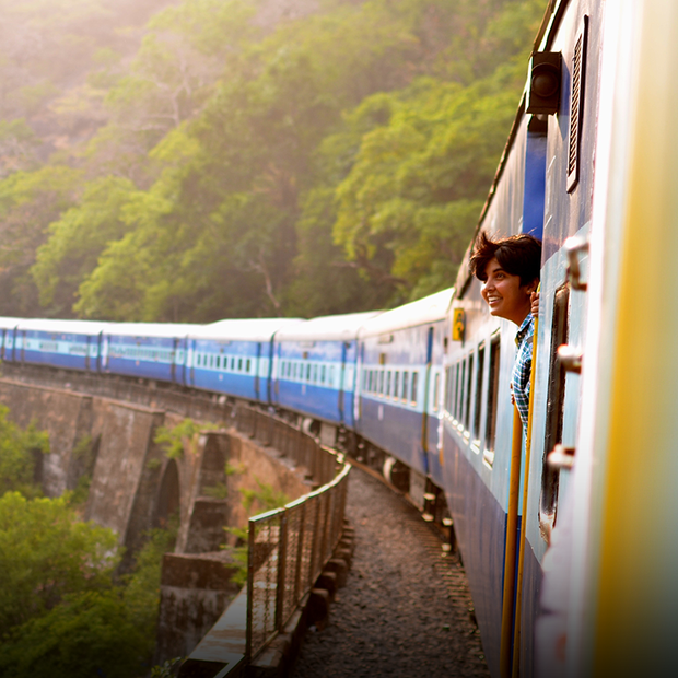 Я подорожую за кордоном потягом
