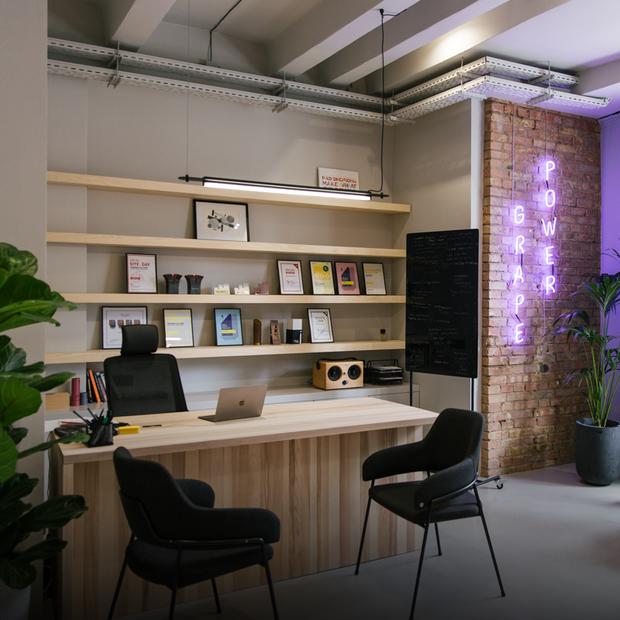 Бар і звукові камери в офісі креативної агенції Grape — Офіс місяця на The Village Україна