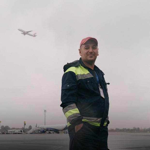 Я працюю в аеропорту «Бориспіль»
