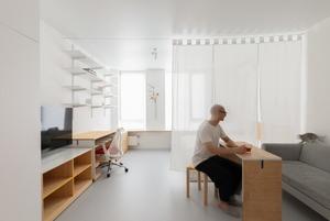 Квартира-студія з адаптивним інтер'єром для фотографа