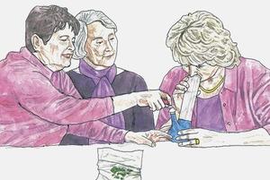«Бабусі з бонгом»: Давид Чичкан ілюструє Адміністративний кодекс