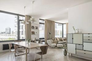Квартира з данськими меблями та краєвидом на НСК «Олімпійський»