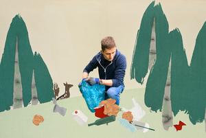 Я прибрав понад 2,5 тонни сміття з лісу на карантині