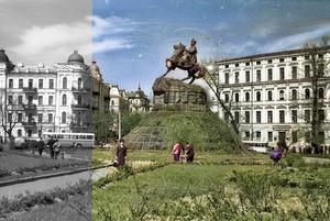 Нейромережа «розфарбовує» чорно-білу фотохроніку: ми обробили через неї фото Києва ХХ століття
