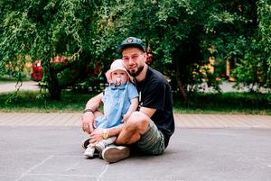 Сергій Вовк, 34 роки, співзасновник KAMA, та дочка Уна