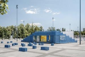 Кочівний громадський простір: як українські архітектори створили мобільний павільйон House of Europe