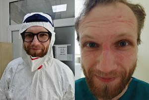 До та після зміни: лікарі та медсестри роблять селфі під час епідемії COVID-19