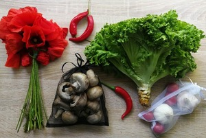 Багаторазові торбинки для овочів та фруктів