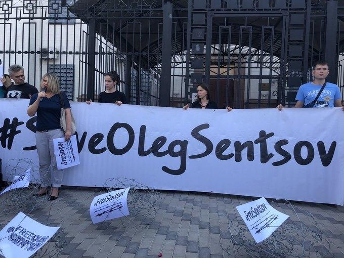 100 днів голодування Сенцова  під посольством Росії вимагають звільнити  політв язня 631b5ce51089c