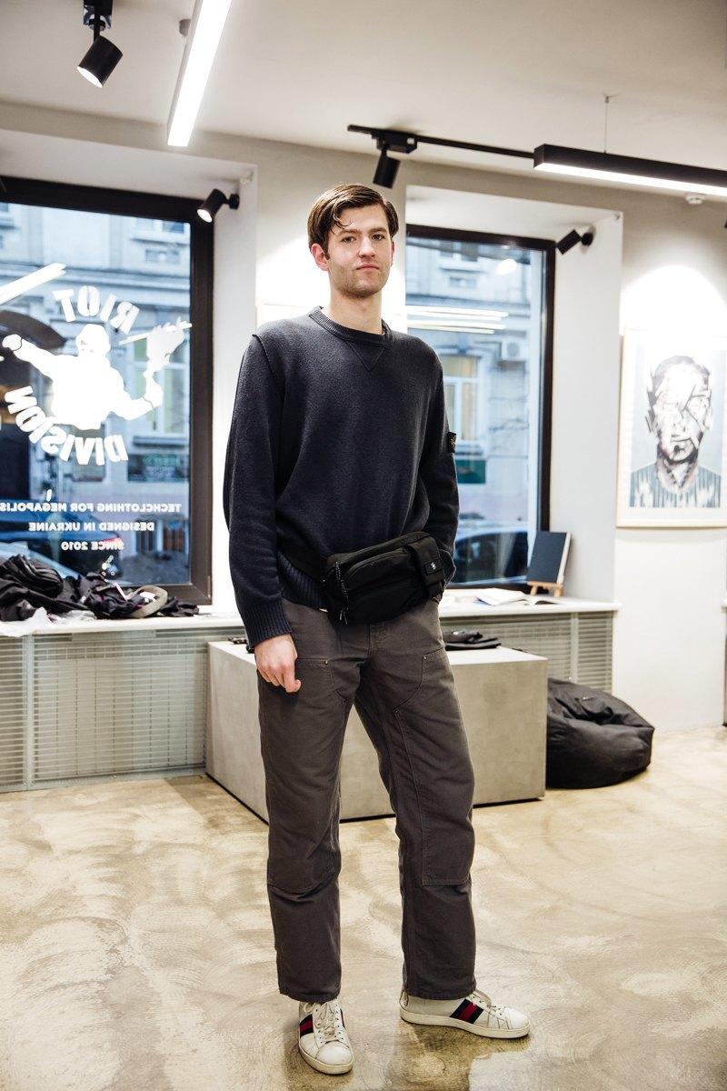 b9ea6d8867ac51 На роботі ношу все, що мені подобається. Одягаючись, думаю насамперед про  комфорт, наприклад, щось у стилі workwear, але аксесуари – це завжди Riot.