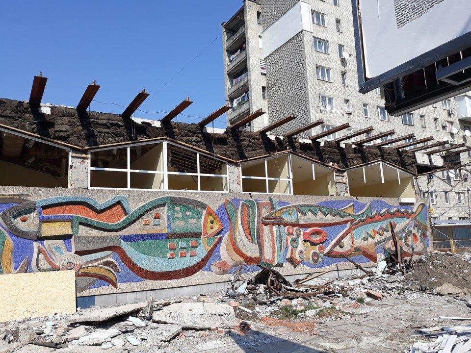 Мозаїку магазину «Океан» у Львові відновлять коштом забудовника