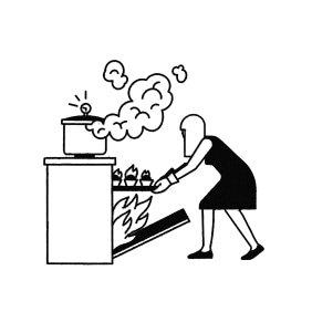 На кухні щось як не вибухає, так горить