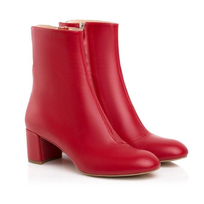 Червоні черевички з натуральної італійської шкіри — The Village Україна 6d965ada4ec97